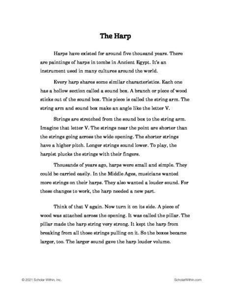 Grade 4: The Harp (Student)